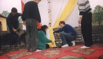 Harcerski Ołtarz-Święto Bożego Ciała 1991
