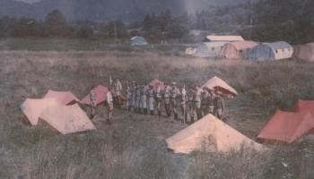 Obóz wędrowny w Bieszczadach 28.07-19.08.1986