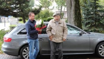 Przyjazd weterana Alfonsa Trockiego do Lęborka.