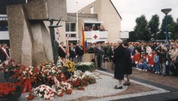 Uroczystości z okazji 50 rocznicy biwty pod Arnhem -Holandia wrzesień 1994
