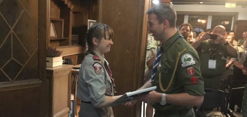 Podharcmistrzyni Agnieszka Stenka z naszej drużyny ponownie została wybrana komendantką hufca