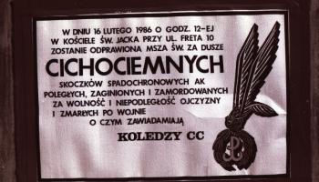 Rocznica I skoku Cichociemnych - Warszawa 16.02.1986