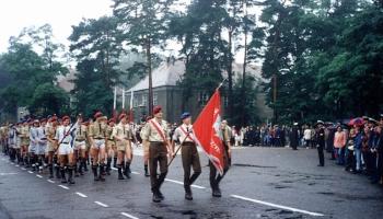 Uroczystość nadania imienia i sztandaru Centrum Specjalistów Marynarki Wojennej w Ustce 2-3.09.1994