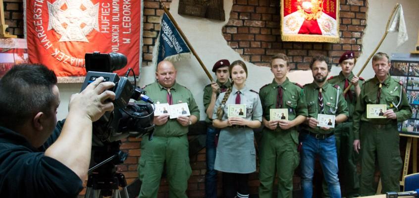 Konferencja prasowana na temat budowy pomnika generała brygady Stanisława Franciszka Sosabowskiego w Lęborku
