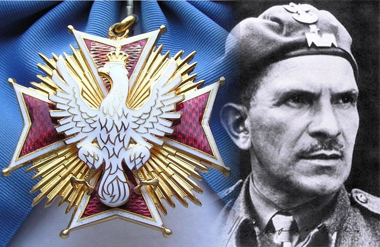 Generał Stanisław Sosabowski pośmiertnie odznaczony Orderem Orła Białego